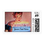 Cumpleaños retro de los años 50 sello