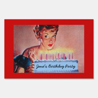 Cumpleaños retro de los años 50 señal