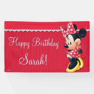 Cumpleaños rojo y blanco de Minnie