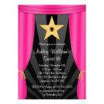 Cumpleaños rosado del dulce 16 de las cortinas de