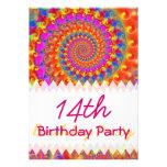 Cumpleaños rosado del fractal