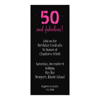 """cumpleaños rosado del loto invitación 4"""" x 9.25"""""""