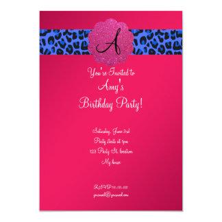 Cumpleaños rosado del monograma comunicados personales
