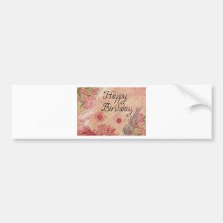 Cumpleaños rosado pegatina para auto