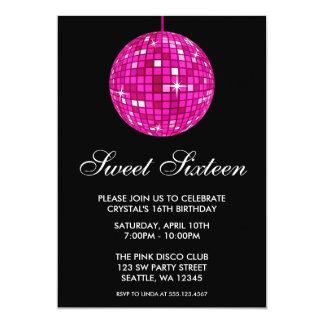 Cumpleaños rosado y negro del dulce dieciséis de comunicados