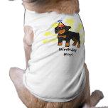 Cumpleaños Rottweiler Playera Sin Mangas Para Perro