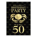 Cumpleaños rústico impreso personalizable del cang comunicado