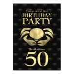 Cumpleaños rústico impreso personalizable del comunicado