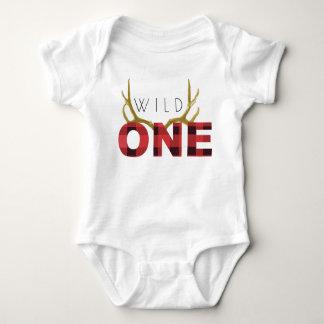 Cumpleaños salvaje del leñador un el | primer body para bebé