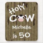 Cumpleaños santo personalizado Mousepad de la vaca Alfombrillas De Raton