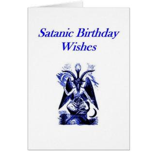 Cumpleaños satánico/de Demonolatry Tarjeta De Felicitación