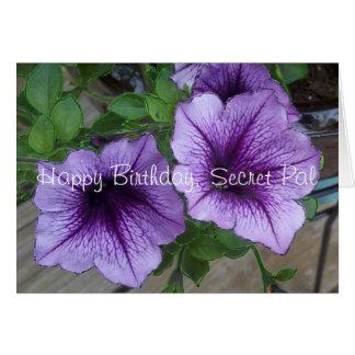 Cumpleaños secreto de la petunia de PAL Tarjetón