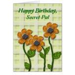 Cumpleaños secreto florido de PAL Felicitaciones