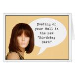 Cumpleaños social de los medios tarjeton