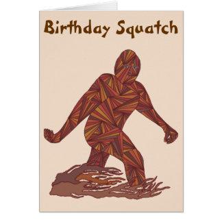 Cumpleaños Squatch de Bigfoot Sasquatch Yeti Tarjeta De Felicitación