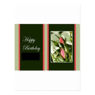 Cumpleaños subió tarjeta postal