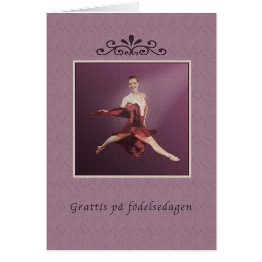 Cumpleaños, sueco, födelsedagen del på de Grattis, Felicitacion