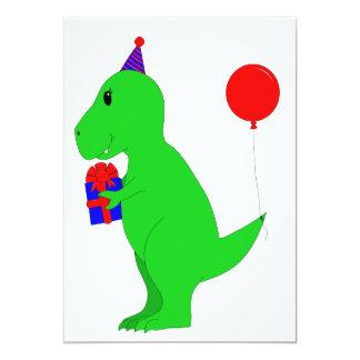 """Cumpleaños T-Rex Invitación 5"""" X 7"""""""