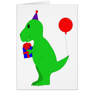 Cumpleaños T-Rex Tarjeta De Felicitación