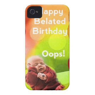 Cumpleaños tardío con los globos Case-Mate iPhone 4 cobertura