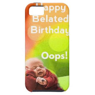 Cumpleaños tardío con los globos iPhone 5 carcasa