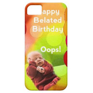 Cumpleaños tardío con los globos iPhone 5 carcasas