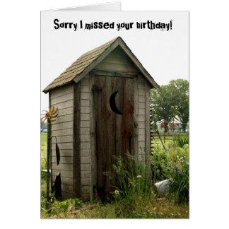 cumpleaños tardío, dependencia tarjeta de felicitación