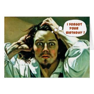 Cumpleaños tardío divertido tarjeta de felicitación