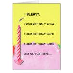 cumpleaños tardío felicitación