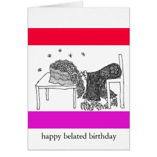 cumpleaños tardío feliz felicitaciones