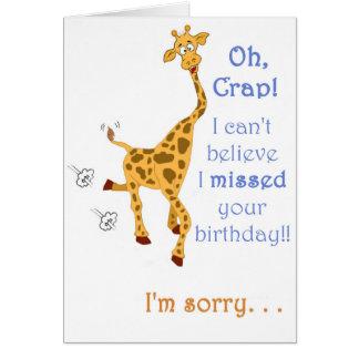 ¡Cumpleaños tardío feliz! Tarjeta De Felicitación