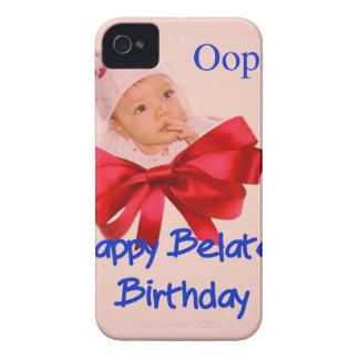 Cumpleaños tardío iPhone 4 coberturas