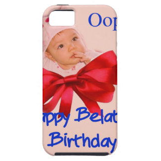 Cumpleaños tardío iPhone 5 fundas