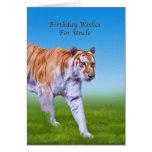 Cumpleaños, tío, el caminar del tigre felicitación