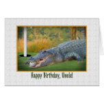 Cumpleaños, tío, golf, cocodrilo tarjeta