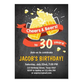 """Cumpleaños trigésimo de las alegrías y de las invitación 5"""" x 7"""""""