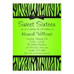 Cumpleaños verde y negro de neón del dulce 16 del  comunicado personal