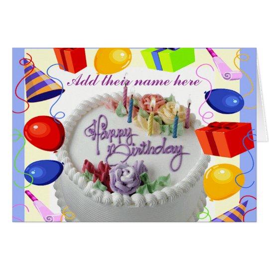 Cumpleaños Wishes_ Tarjeta De Felicitación