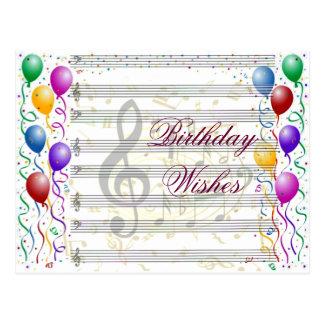 Cumpleaños Wishes_ Tarjetas Postales