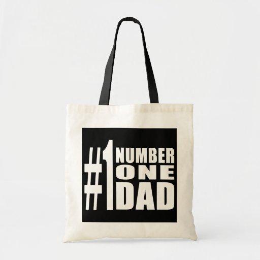 Cumpleaños y navidad del papá #1: Papá del número  Bolsa Tela Barata