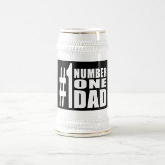 Cumpleaños y navidad del papá #1: Papá del número  Taza De Café