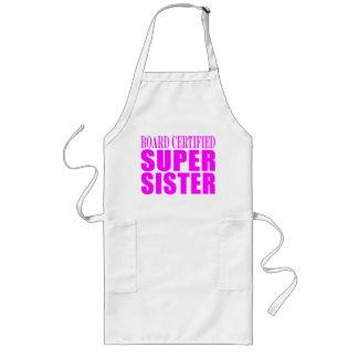 Cumpleaños y navidad rosados de las hermanas Herm Delantales