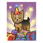 Cumpleaños Yorkshire Terrier (pelo corto con el Postal