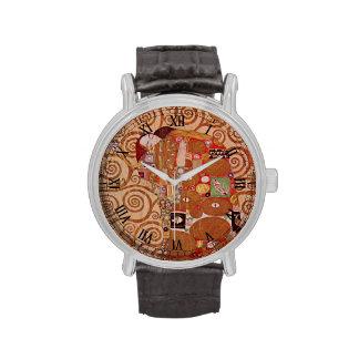 Cumplimiento de Gustavo Klimt, arte Nouveau del Relojes De Pulsera