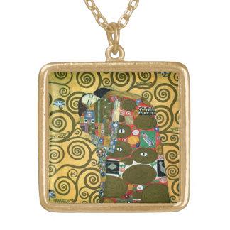 Cumplimiento (el abrazo) por Gustavo Klimt Collar