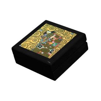 Cumplimiento (el abrazo) por Gustavo Klimt Caja De Regalo