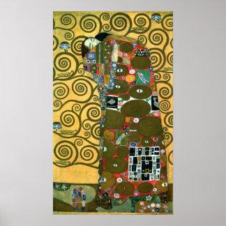 Cumplimiento el abrazo por Gustavo Klimt Posters