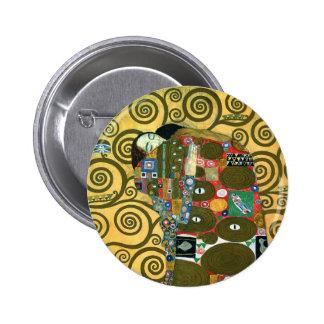 Cumplimiento el abrazo por Gustavo Klimt Pins