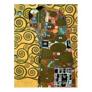 Cumplimiento el abrazo por Gustavo Klimt Postales