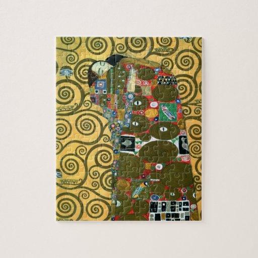 Cumplimiento (el abrazo) por Gustavo Klimt Puzzles